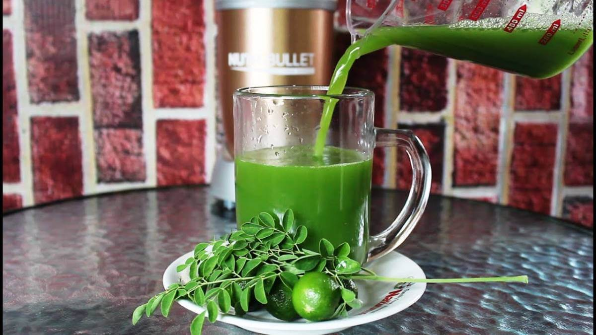 Moringa and curry leaves juice to stop hair fall permanently