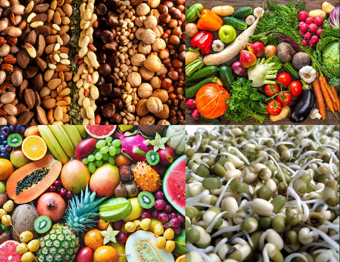 Fruits, Vegetables, Nuts & Sprouts