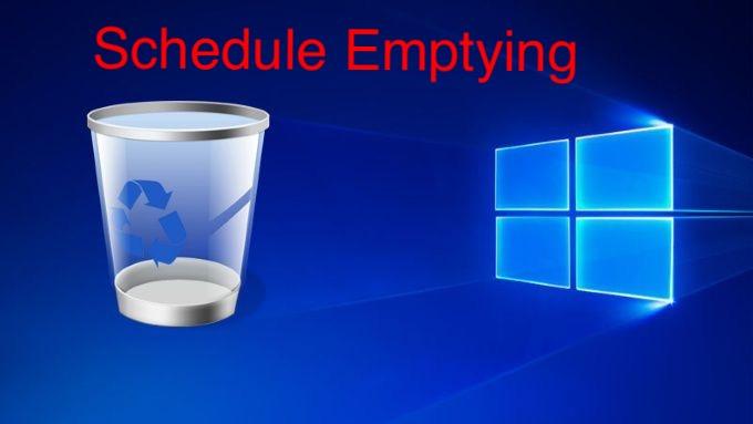 Schedule Recycle Bin To Empty Itself